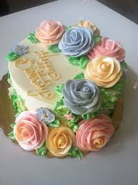 spring buttercream cake beautiful piped roses awesome cakes