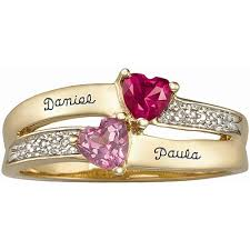 s ring keepsake personalized enamored s ring walmart