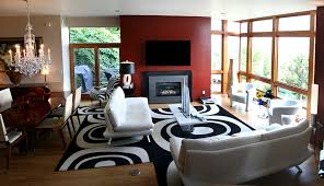 open floor plan living room casual living room contemporary casual living room with black and