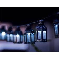 Moroccan Outdoor Lights Light Solar String 20 Led Solar Moroccan Lantern String