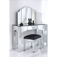 small dressing table with mirror and stool most seen images in the stunning mirrored furniture set that offer