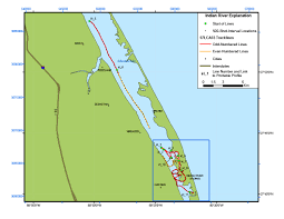 Florida Coast Map Indian River Lagoon Map Archive Of Digital Boomer Sub Bottom
