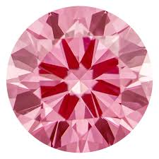 Pink Round Cushion 1 03 Ct Round Vivid Bubble Gum Pink Color Vs1 Clarity