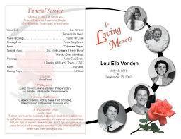 burial ceremony program memorial service program sample funeral