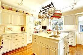 kitchen island with hanging pot rack kitchen pot hanger on a hanging pot rack via kitchen pot hanger