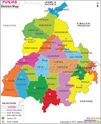 India Time Zone Map punjab map districts in punjab