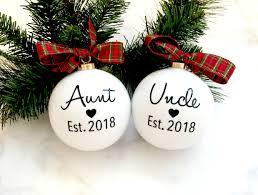 pregnancy announcement christmas ornaments aunt u0026 uncle