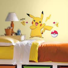 pokemon pikachu peel and stick wall decals walmart com