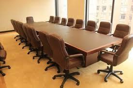 Executive Meeting Table Hand Made Custom Made Leather And Sapele Mahogany Executive