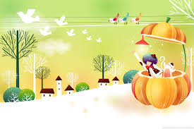 cute fall computer wallpaper childhood fairytales pumpkin hd desktop wallpaper widescreen