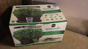 aerogarden ultra led indoor hydroponic system unboxing setup and