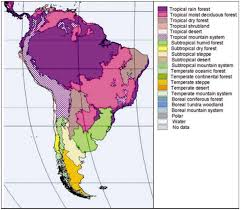 america climate zones map chapter 42 south america ecological zones