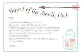 gift of the month club gifts with printables
