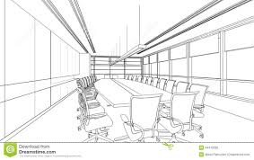 outline sketch of a interior meeting room illustration 44410398