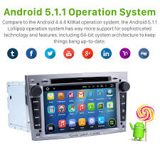 aftermarket android 5 1 1 radio dvd player for 2006 2012 opel