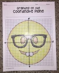 coordinate plane graphing emoji graphing on the coordinate plane mystery picture