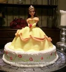 coolest homemade fondant belle birthday cake