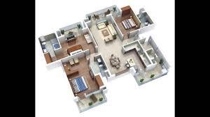 more bedroom d floor plans inspirations 4 bungalow plan 3d gallery