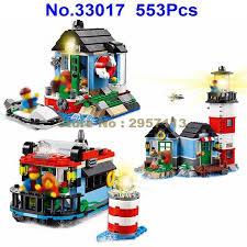 light brick sets 33017 553pcs 3in1 my world creative beacon house lele with light