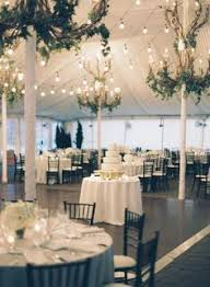 Marquee Chandeliers For The Reception All White Reception In A Clear Span Marquee