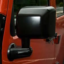 jeep wrangler mirrors rugged ridge 11002 13 door mirror black left side 07 15 jeep