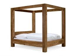 Schlafzimmer Ideen Himmelbett Himmelbett Stark Holzbett 180x200 Palisander Mit Teak Finish