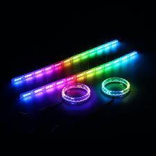 ring light effect app 12v car auto rgb flexible angel tears eye 40w led strip light turn