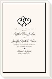 wedding program cover deco wedding program vintage order of service pocket sized