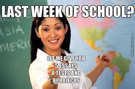 last week of school by theamasinghorse meme center