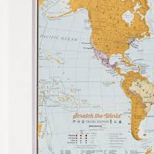 World Map Equator by Scratch The World Travel Edition Map Print By Maps International