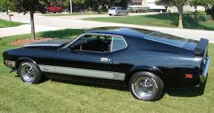 Black Fastback Mustang Black 1973 Mach 1 Ford Mustang Fastback Mustangattitude Com