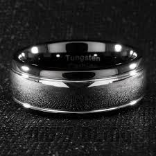 Mens Gunmetal Wedding Rings by Tungsten Carbide Wedding Band Black Silver Dome Gunmetal Bridal