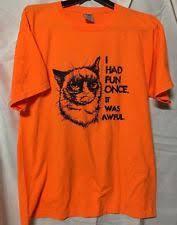 Grumpy Cat Meme I Had Fun Once - grumpy cat i had fun once it was awful meme funny t shirt tee ebay