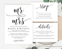 wedding template invitation wedding invitation template etsy