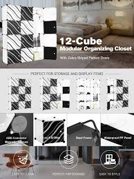 amazon com langria 12 cube storage wardrobe closet organizer diy