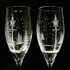 Engraved Wedding Gifts New Winter Wedding Champagne Flutes Personalized Wedding Gift For