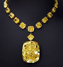 yellow diamonds necklace images The golden empress 132 55 carats of canary yellow diamond a new jpg