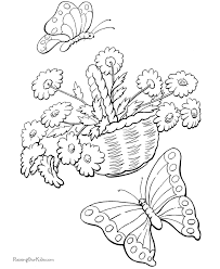free butterfly coloring page 006
