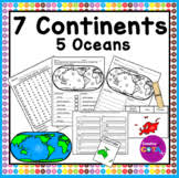 continents and oceans test teaching resources teachers pay teachers