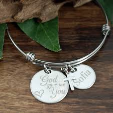personalized name bracelet god gave me you bracelet personalized name bangle bracelet