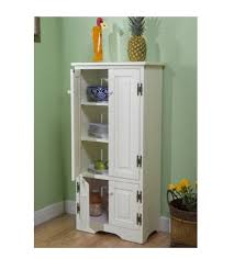 amazon com tall kitchen cabinet white has two fixed and two