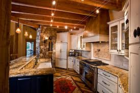 Kitchen Ceiling Track Lighting Kitchen Classic Kitchen Decoration With Visible Beam Kitchen