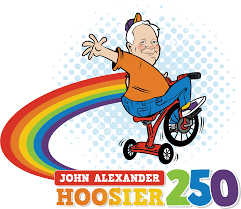 tricycle cartoon john alexander hoosier 250 tricycle race circle city in pride