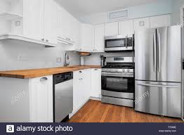 colored kitchen cabinets with stainless steel appliances a small kitchen with stainless steel appliances white