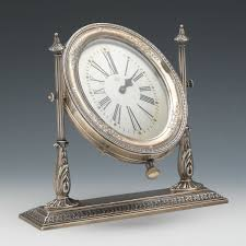 Silver Desk Accessories by Sterling Silver Desk Clock Reed And Barton 02 21 15 Sold 356 5