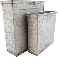 amazon com homart rectangular galvanized containers set of two