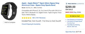 best buy drops apple watch pricing to as low as 249 with new wave