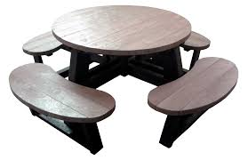 round plastic picnic table large round wood picnic table round designs