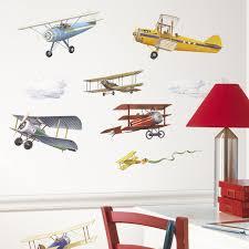 Plane Ceiling Fan Roommates Rmk1197scs Vintage Planes Peel U0026 Stick Wall Decals 22