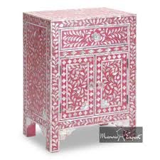 Pink Table L Of Pearl Inlay Bedside Cabinet L Mop Inlay Side Table L